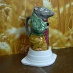 Broc barbotine Rat ou souris au parapluie. Origine Poët Laval. différentes couleurs .hauteur 20 cms . Origine Poët Laval