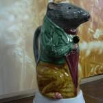 Broc barbotine Rat ou souris au parapluie. Origine Poët Laval. différentes couleurs .hauteur 20 cms