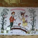 Les Amoureux de Peynet. sur plaque en faïence. 305 x 210