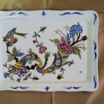 Style Vieux Rouen. Petits plats festonnés. 180 x 135
